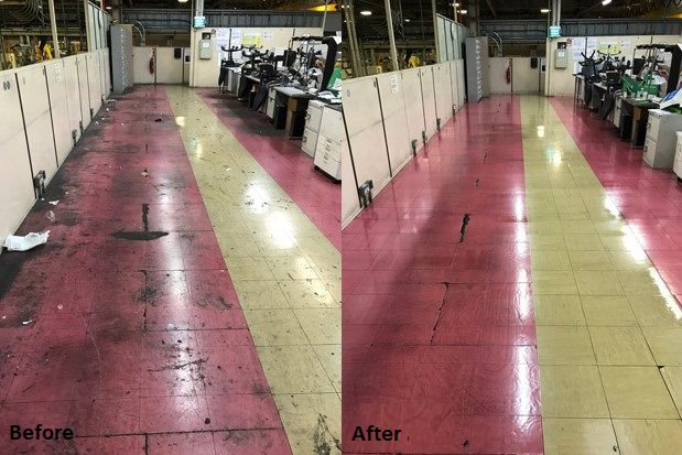 Image of Mezzanine Flooring - Before and After