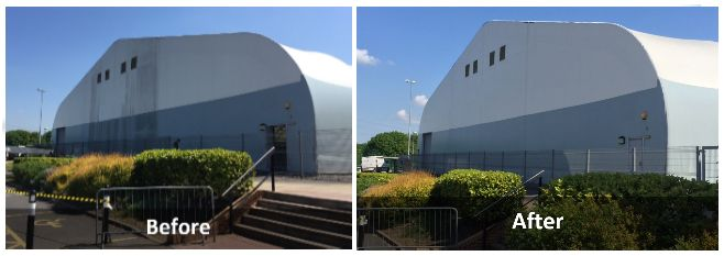 Image of Cladding Cleaning - Before and After