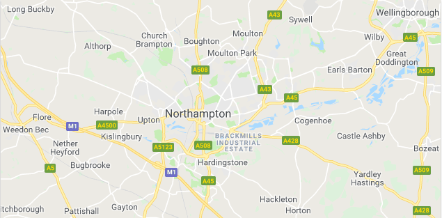 Image of a map of Northampton.