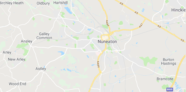 Image of a map of Nuneaton.