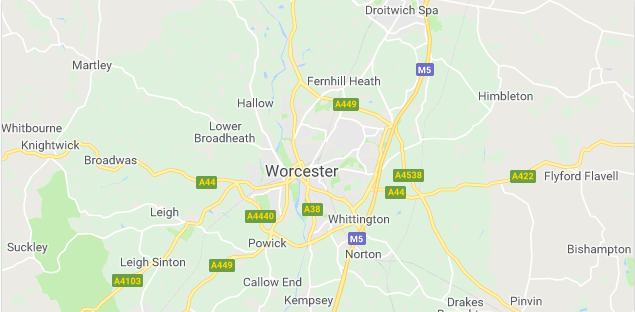 Image of a map of Worcester.