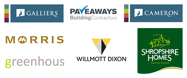 Image of building company logos.